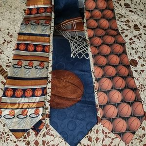 Vintage Basketball Ties Awesome lot of 3